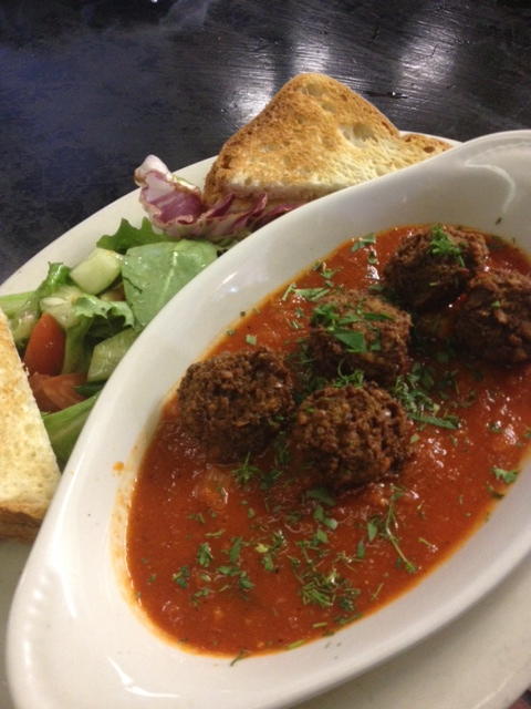 Vegan Shakshuka with Foxy Falafel Balls and GF Toast